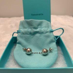 Tiffany silver ball stud earrings